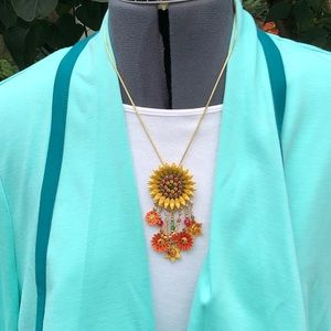 Lunch atthe Ritz pendant/brooch sunflower necklace